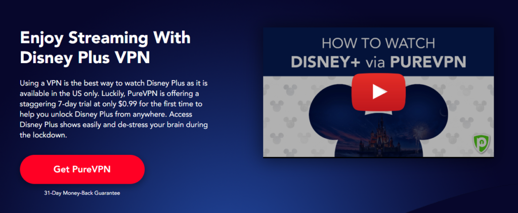 Disney Plus with PureVPN